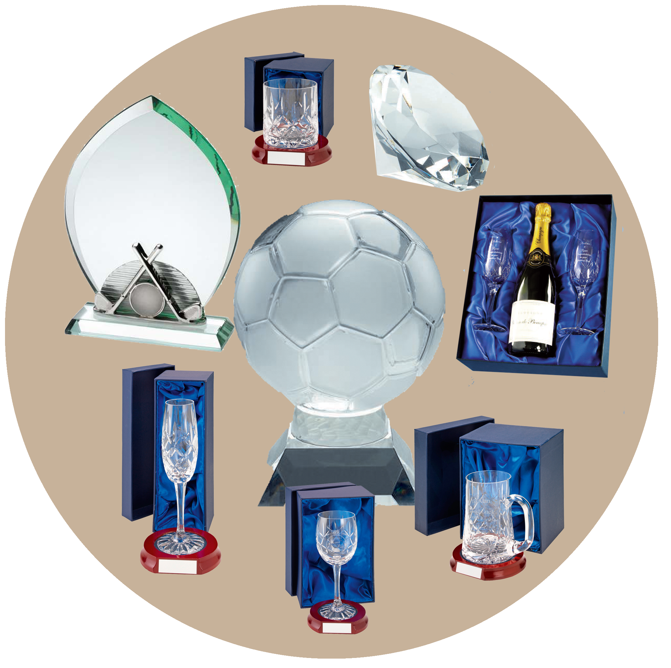 Trophies engraving embroidery corporate gifts gibbcraft